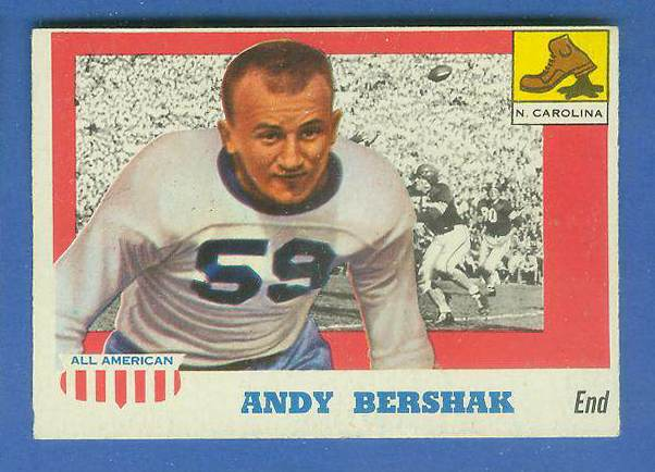 1955 Topps ALL-AMERICAN FB #..7 Andy Bershak (North Carolina) Football cards value