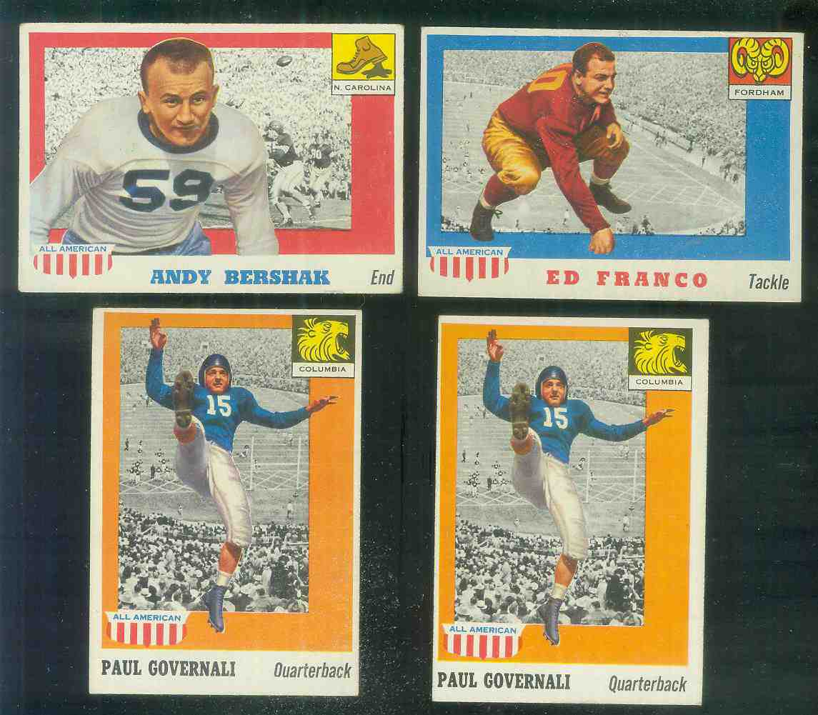 1955 Topps ALL-AMERICAN FB #.73 Paul Governali (Columbia) Football cards value