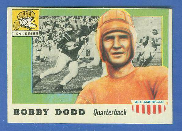 1955 Topps ALL-AMERICAN FB #.11 Bobby Dodd SHORT PRINT (Tennessee) Football cards value