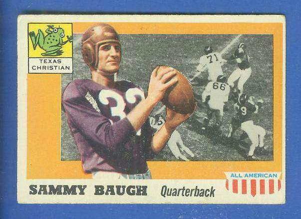 1955 Topps ALL-AMERICAN FB #.20 Sammy Baugh (Texas Christian) Football cards value