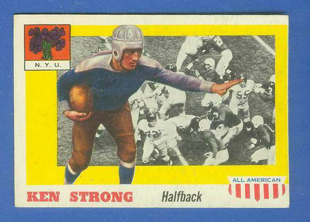 1955 Topps ALL-AMERICAN FB #.24 Ken Strong (N.Y.U.) Football cards value