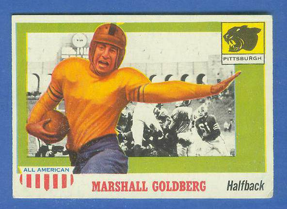 1955 Topps ALL-AMERICAN FB #.89 Marshall Goldberg (Pittsburgh) Football cards value