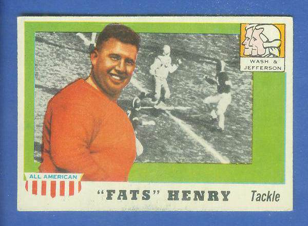 1955 Topps ALL-AMERICAN FB #100 Fats Henry ROOKIE SHORT PRINT [#b] Football cards value