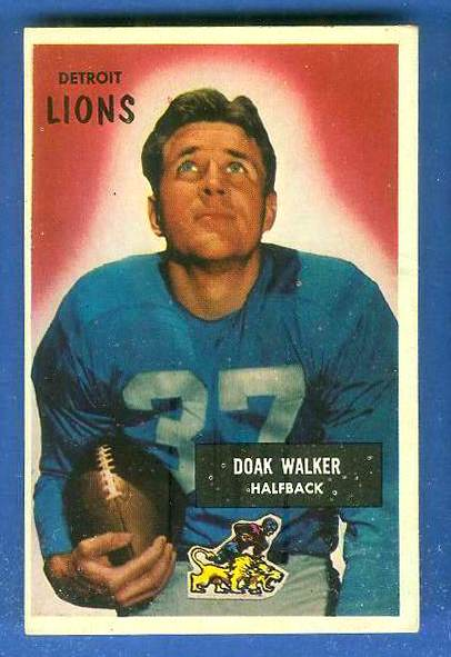 1955 Bowman FB #..1 Doak Walker [#b] (Lions) Football cards value