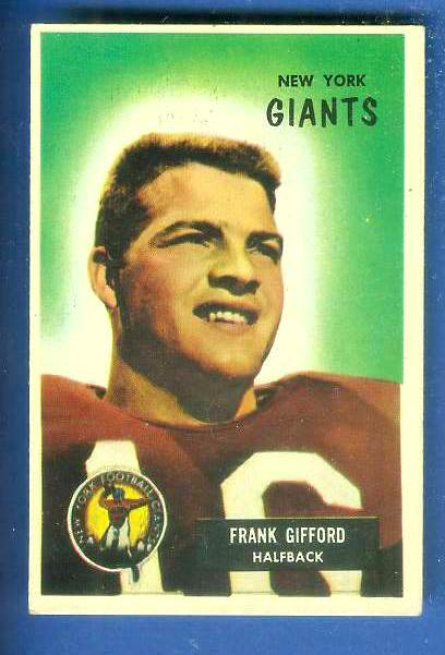 1955 Bowman FB #..7 Frank Gifford [#a] (NY Giants)