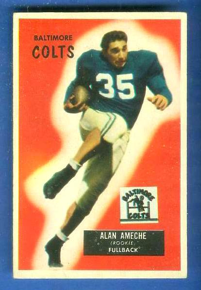1955 Bowman FB #..8 Alan Ameche ROOKIE [#a] (Colts) Football cards value