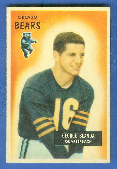 1955 Bowman FB #.62 George Blanda [#a] (Bears) Football cards value