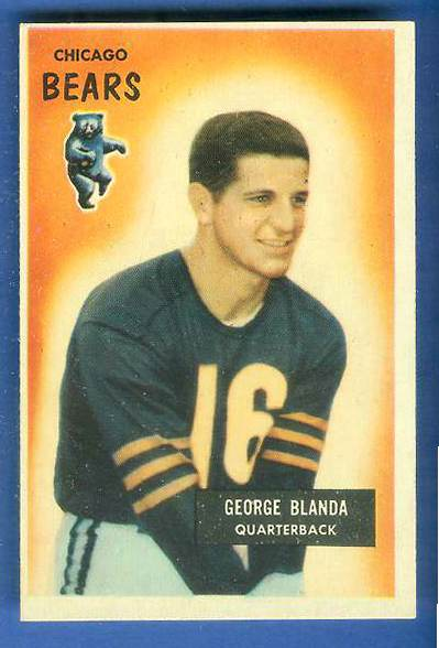 1955 Bowman FB #.62 George Blanda [#b] (Bears) Football cards value
