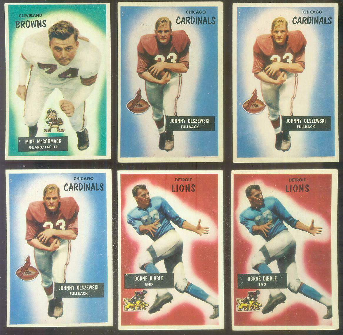 1955 Bowman FB #..2 Mike McCormack ROOKIE (Browns) Football cards value