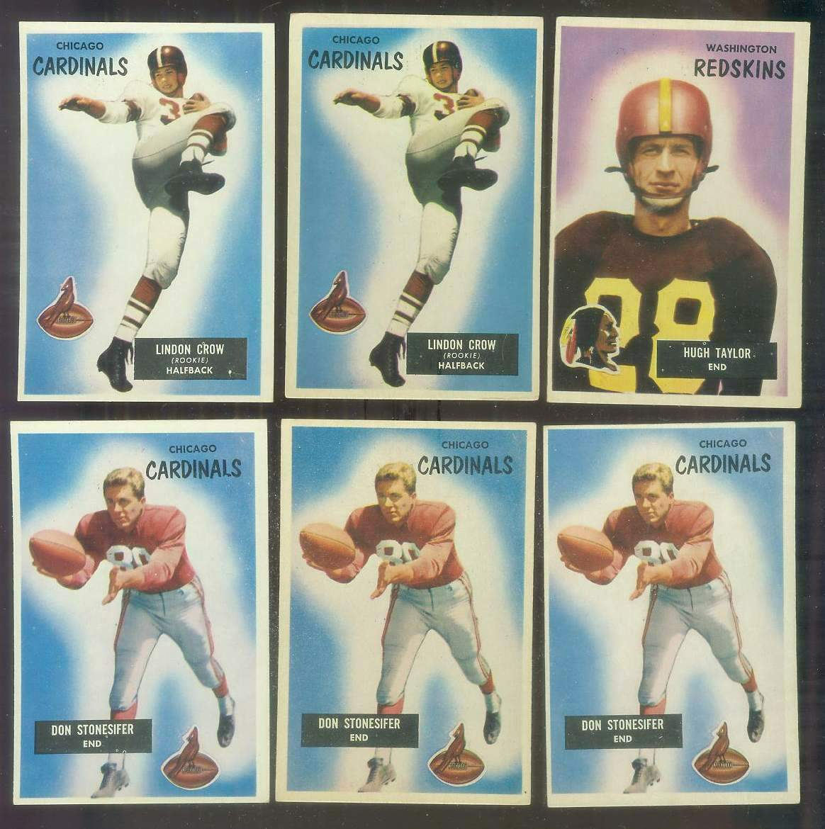 1955 Bowman FB #..9 Don Stonesifer (Chicago Cardinals) Football cards value