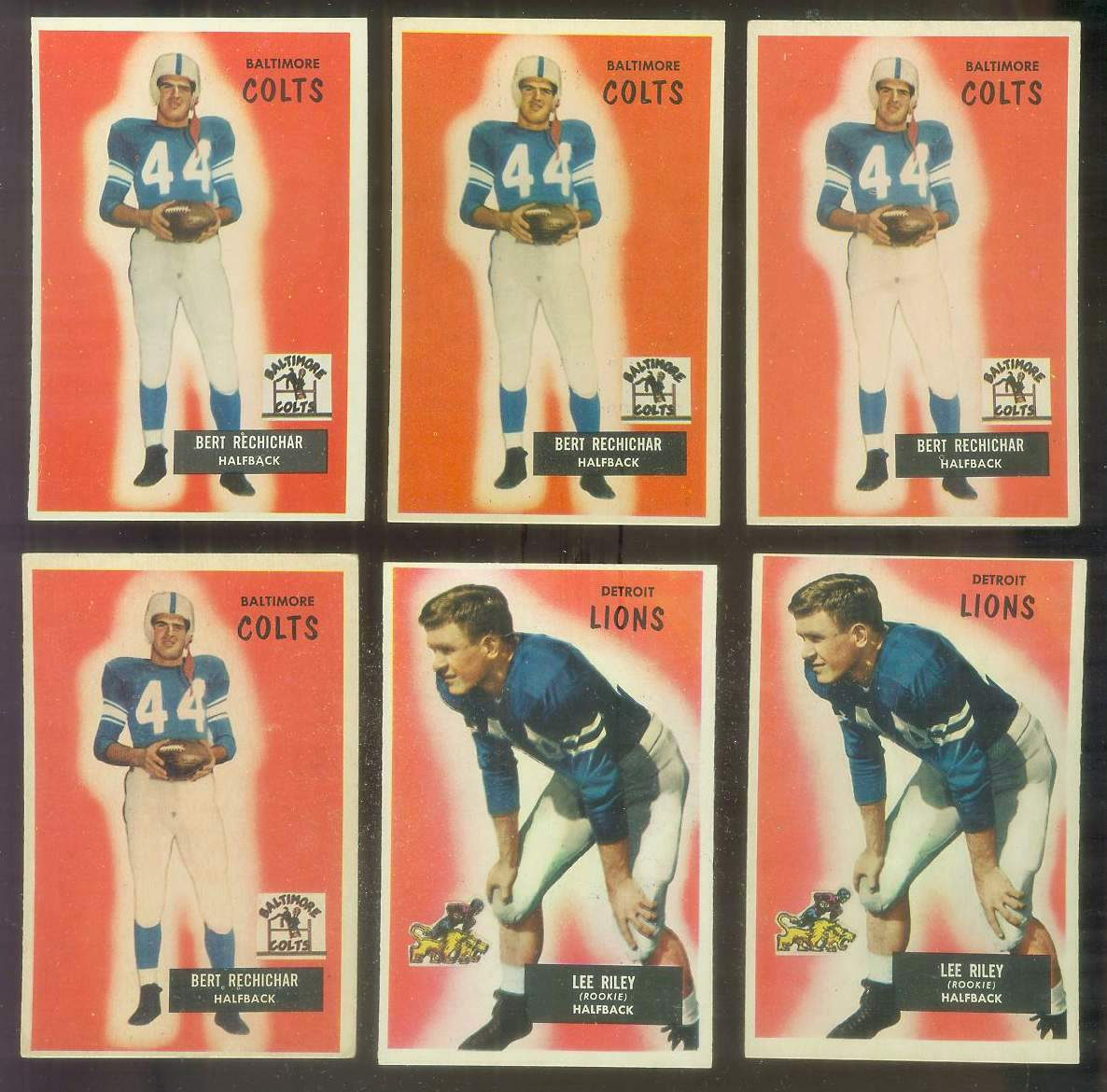 1955 Bowman FB #.20 Bert Rechichar (Colts) Football cards value