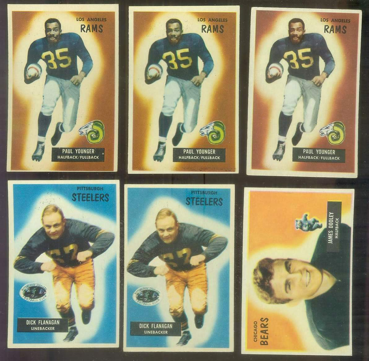 1955 Bowman FB #.39 Dick Flanagan (Steelers) Football cards value