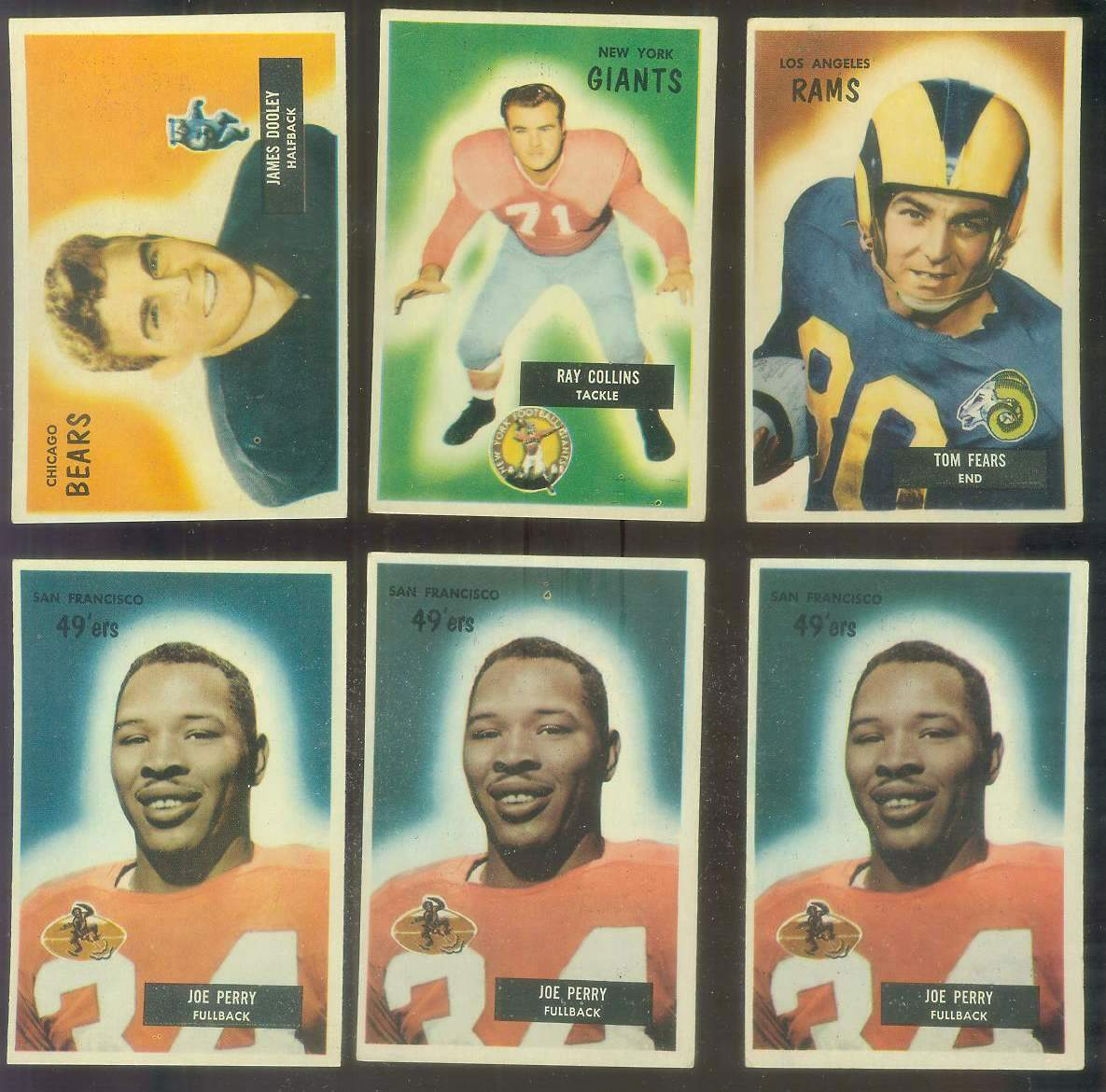 1955 Bowman FB #.40 Jim Dooley (Bears) Football cards value