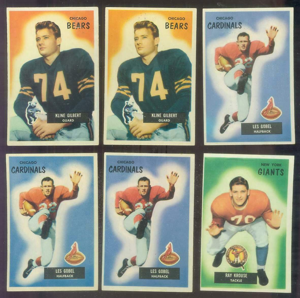 1955 Bowman FB #.51 Ray Krouse ROOKIE Football cards value