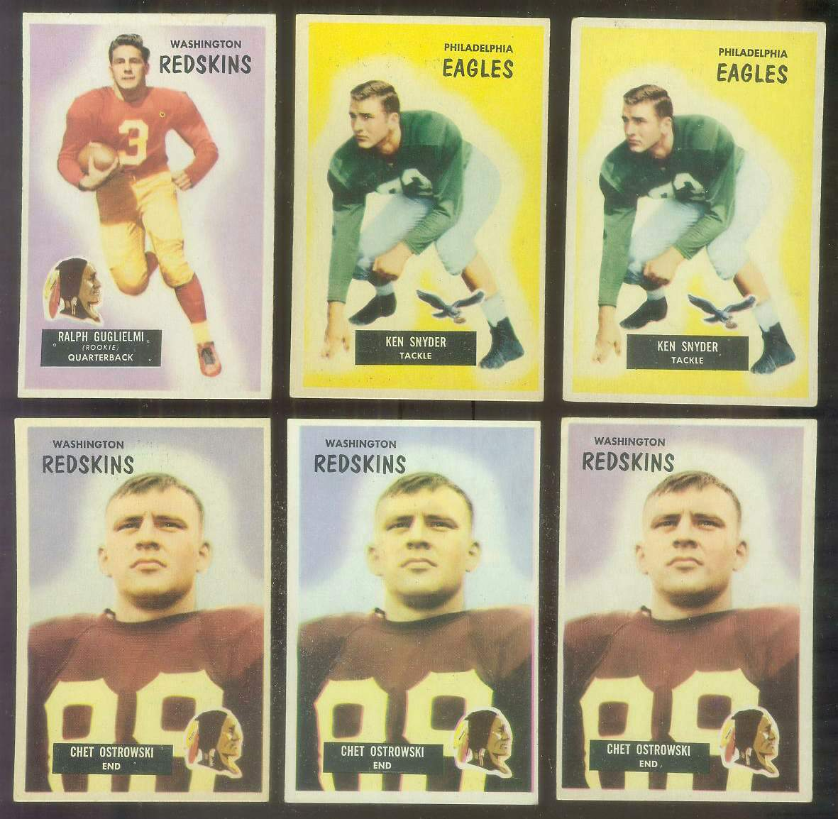 1955 Bowman FB #.63 Kenneth Snyder (Eagles) Football cards value