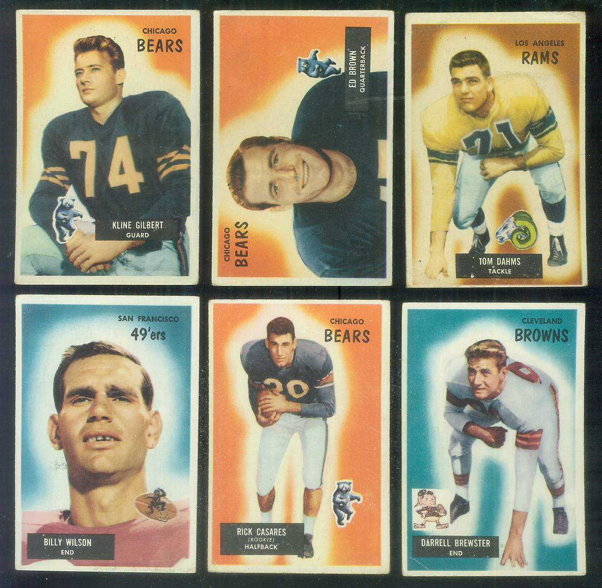 1955 Bowman FB #.87 Rick Casares ROOKIE [#x] (Bears) Football cards value