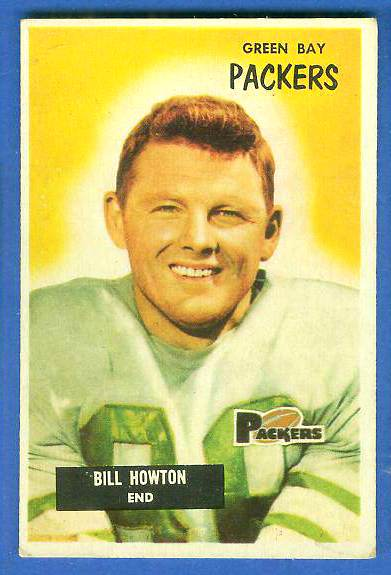 1955 Bowman FB #140 Billy Howton [#b] (Packers) Football cards value