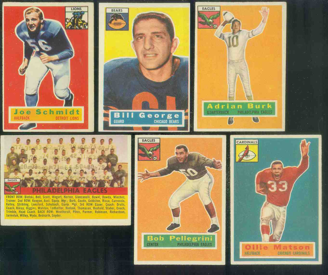 1956 Topps FB #.40 Philadelphia Eagles [#c] Football cards value