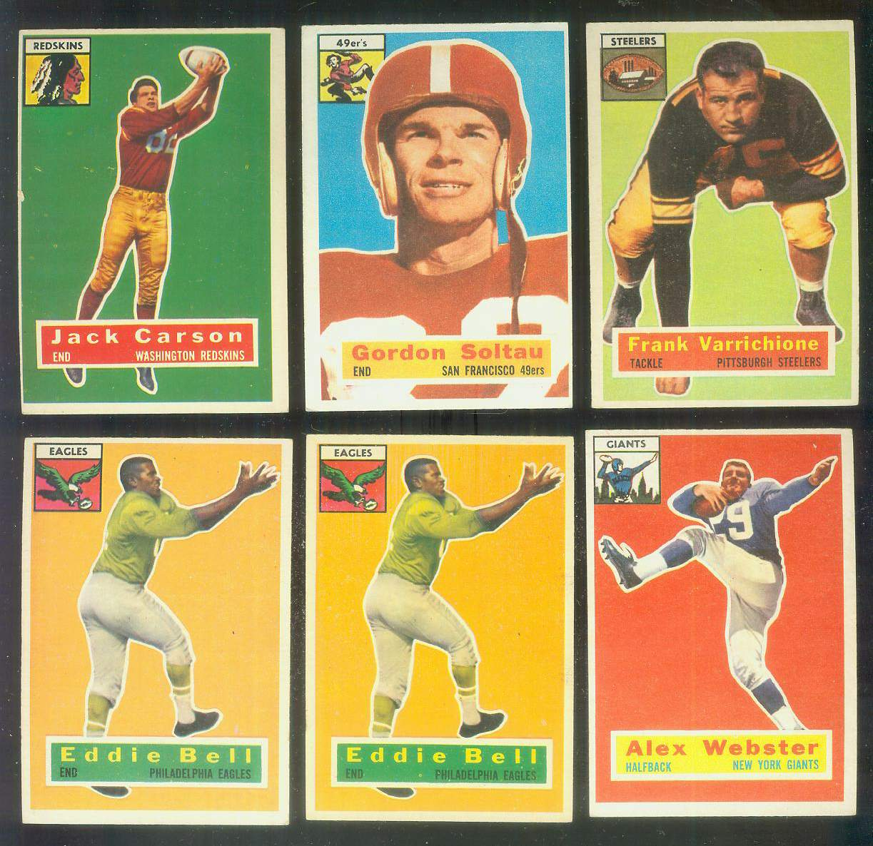 1956 Topps FB #..1 Johnny Carson SHORT PRINT [#x] (Redskins) Football cards value