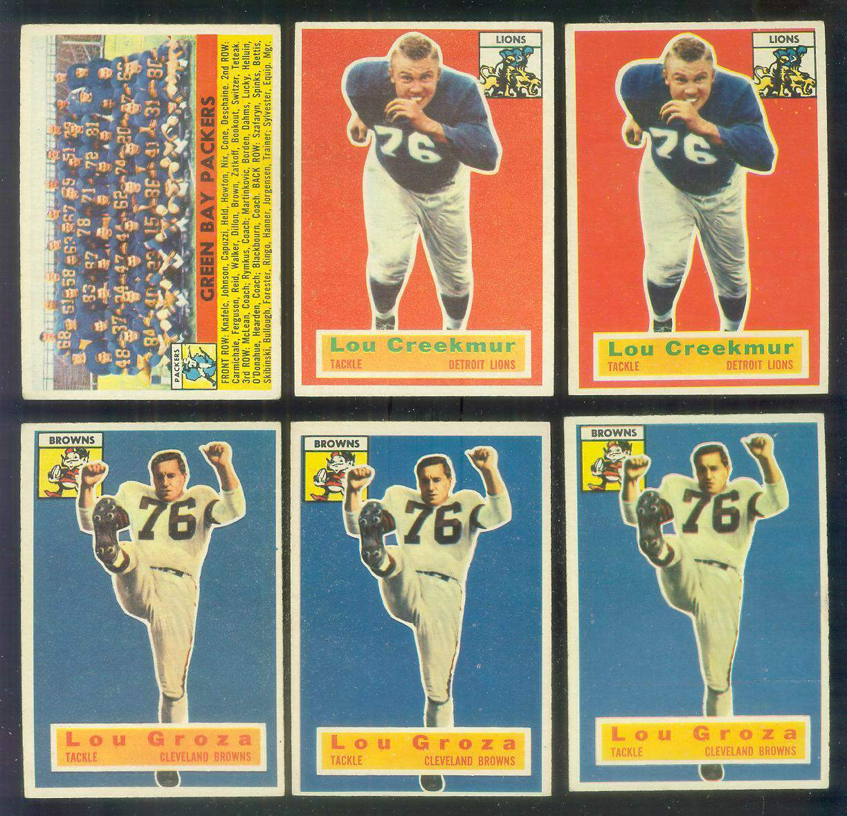 1956 Topps FB #..9 Lou Groza (Browns) Football cards value