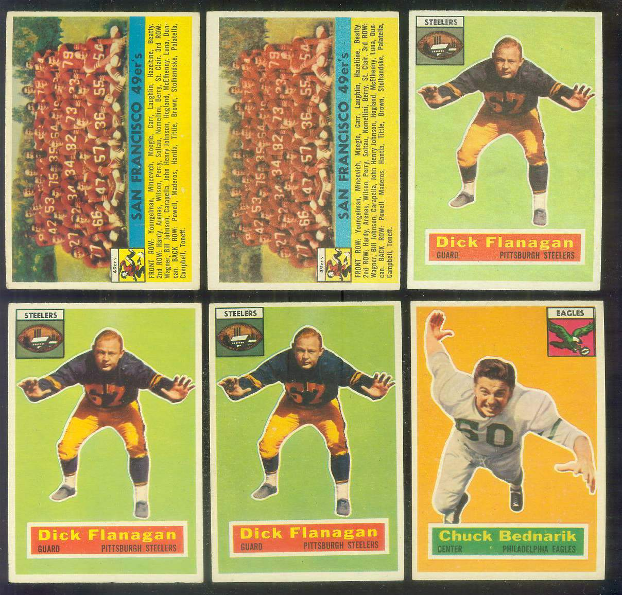 1956 Topps FB #.26 San Francisco 49ers TEAM card Football cards value