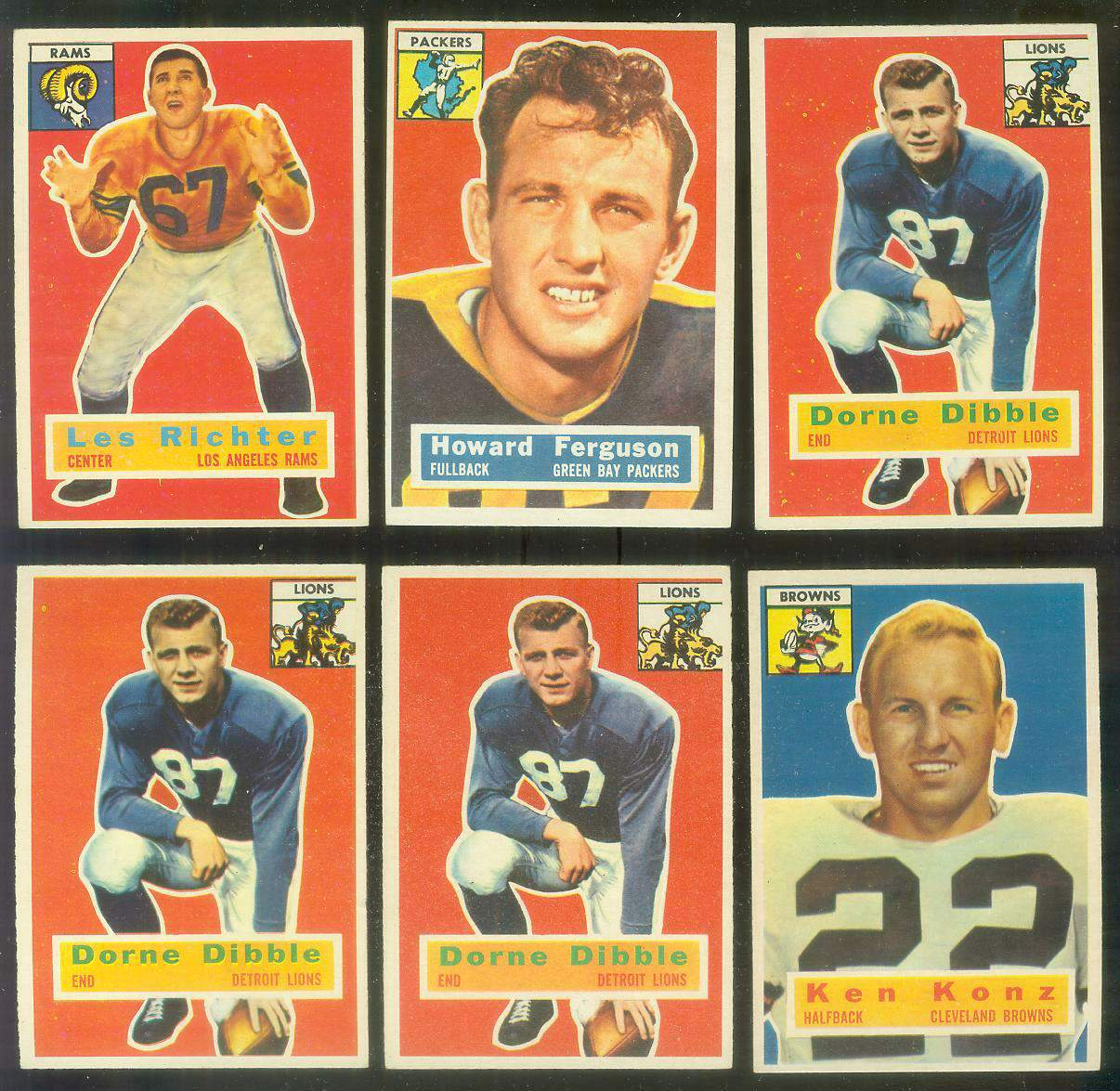 1956 Topps FB #.31 Howard Ferguson (Packers) Football cards value