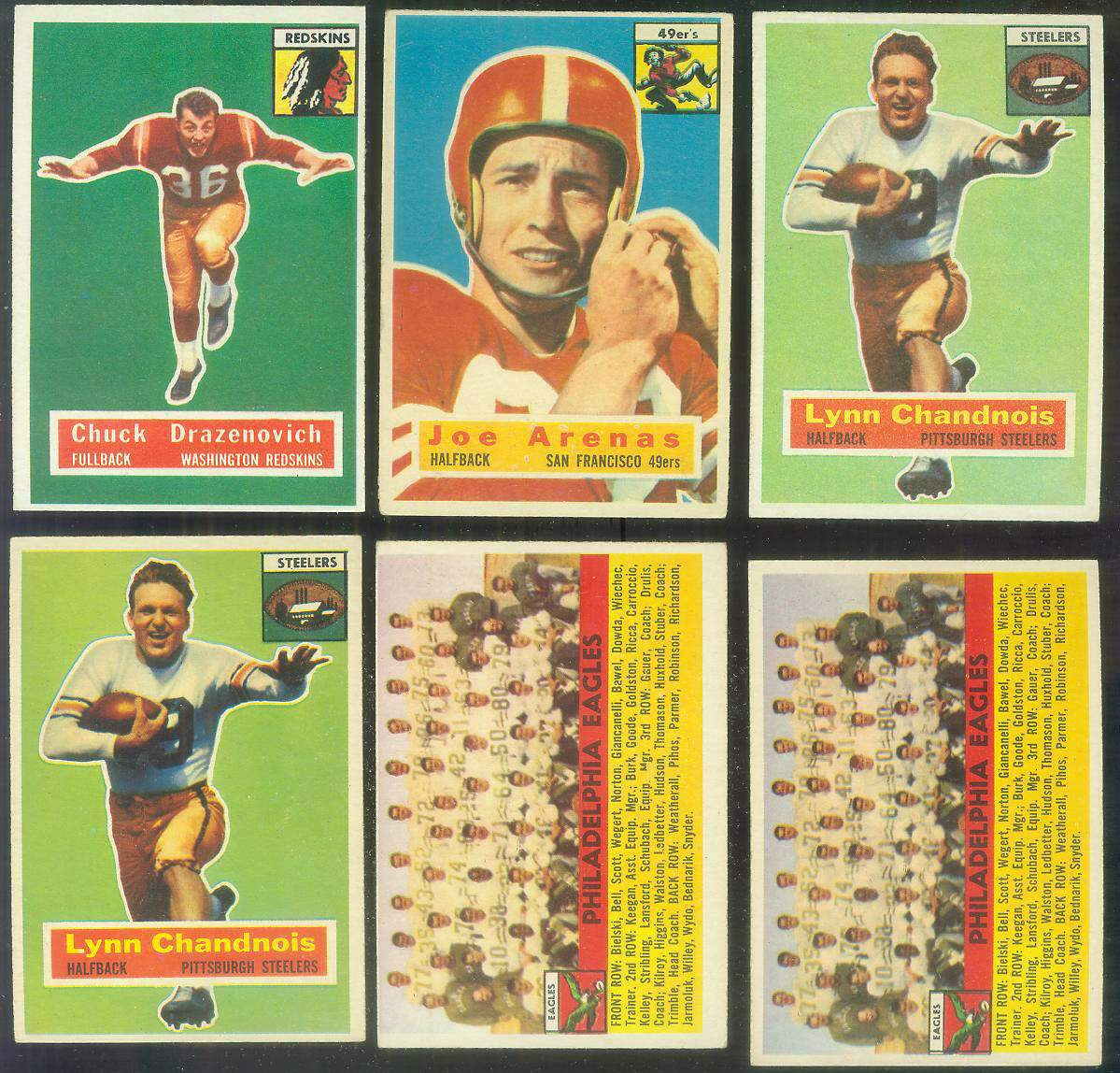 1956 Topps FB # 37 Chuck Drazenovich SHORT PRINT (Redskins) Football cards value