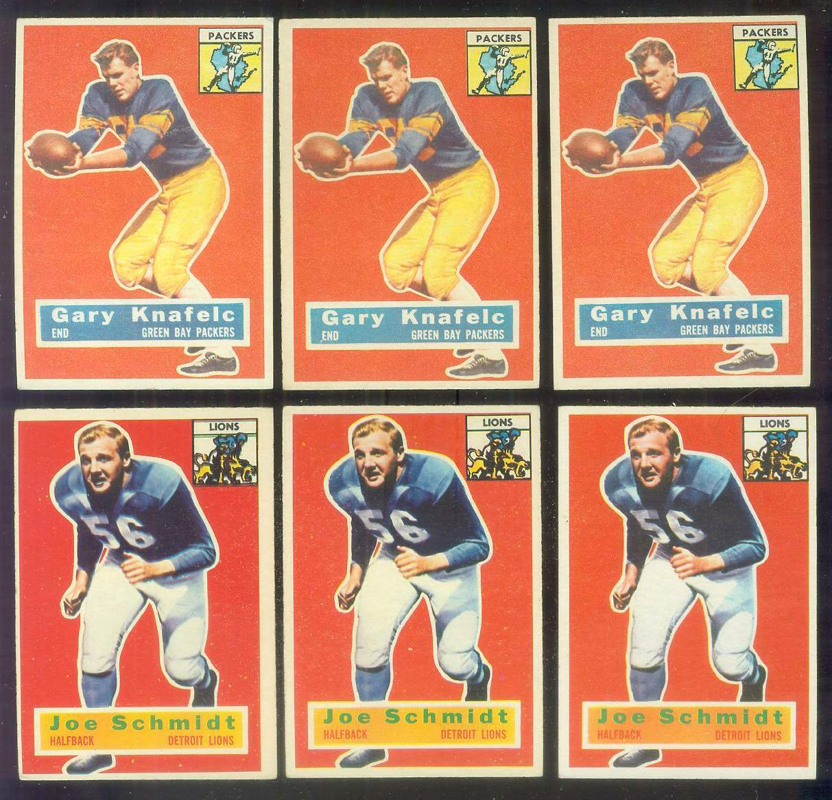 1956 Topps FB #.44 Joe Schmidt ROOKIE (Lions) Football cards value