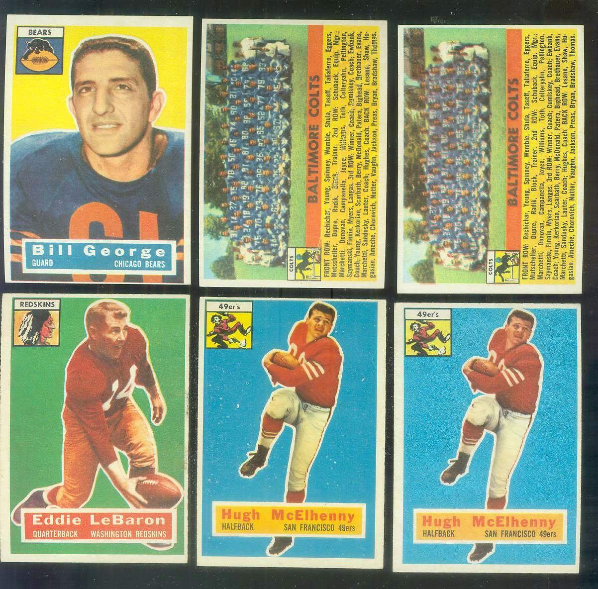 1956 Topps FB #.48 Baltimore Colts TEAM card Football cards value