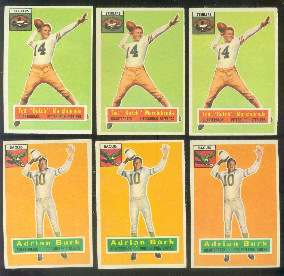 1956 Topps FB #.51 Ted Marchibroda (Steelers) Football cards value