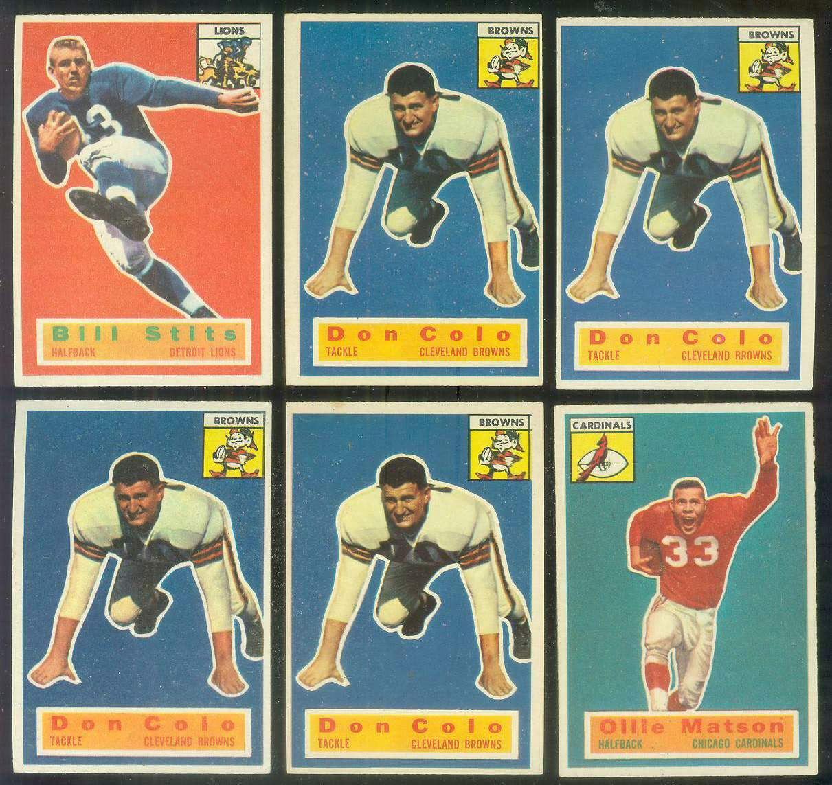 1956 Topps FB #.58 Ollie Matson SHORT PRINT (Chicago Cardinals) Football cards value