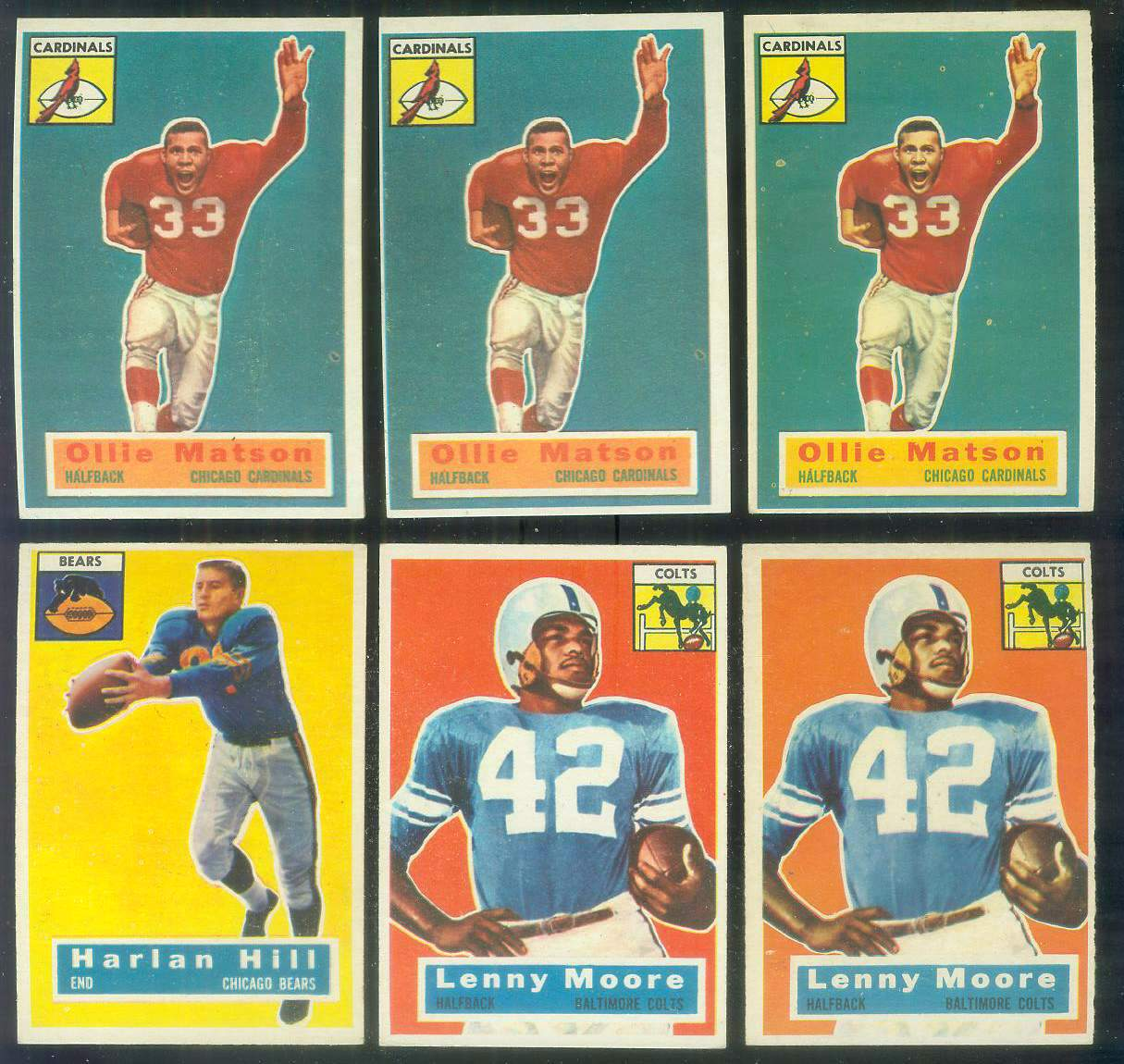 1956 Topps FB # 60 Lenny Moore ROOKIE (Colts) Football cards value