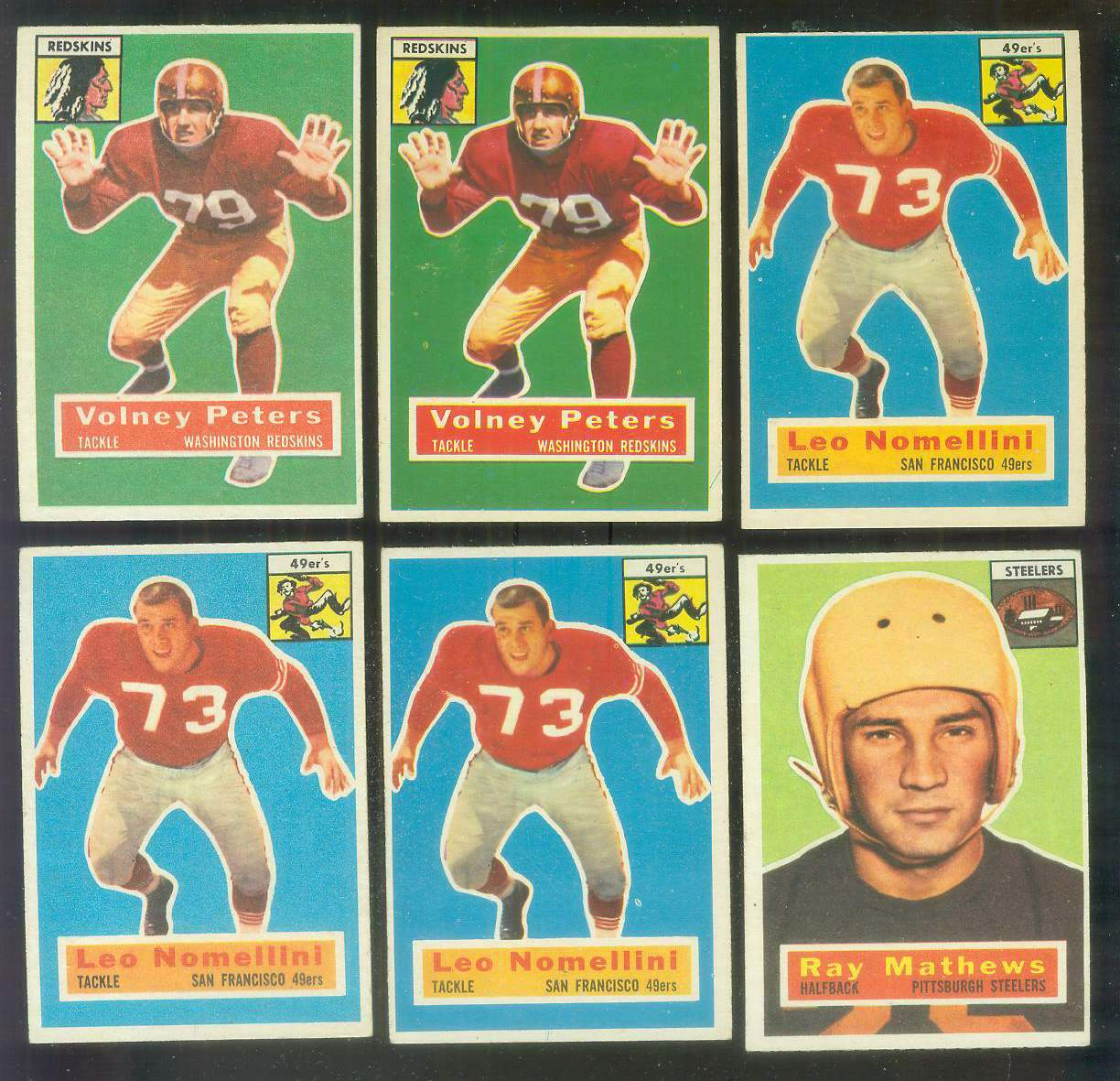 1956 Topps FB #.73 Volney Peters SHORT PRINT (Redskins) Football cards value