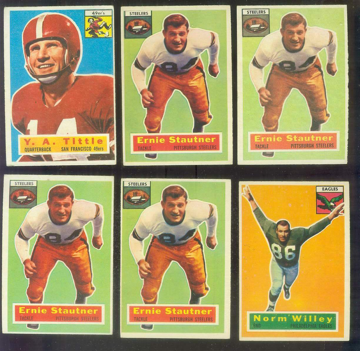 1956 Topps FB #.87 Ernie Stautner (Steelers) Football cards value