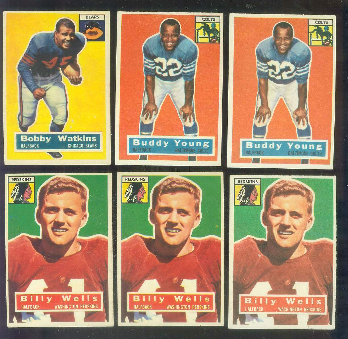 1956 Topps FB #.96 Buddy Young (Colts) Football cards value