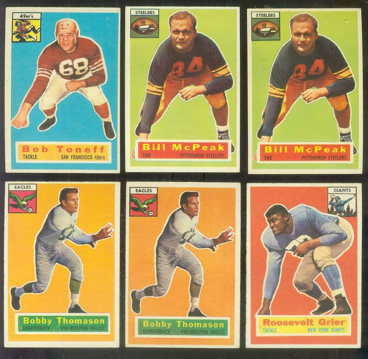 1956 Topps FB #.99 Bill McPeak (Steelers) Football cards value