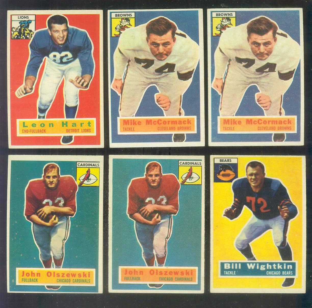 1956 Topps FB #106 John Olszewski SHORT PRINT (Chicago Cardinals) Football cards value