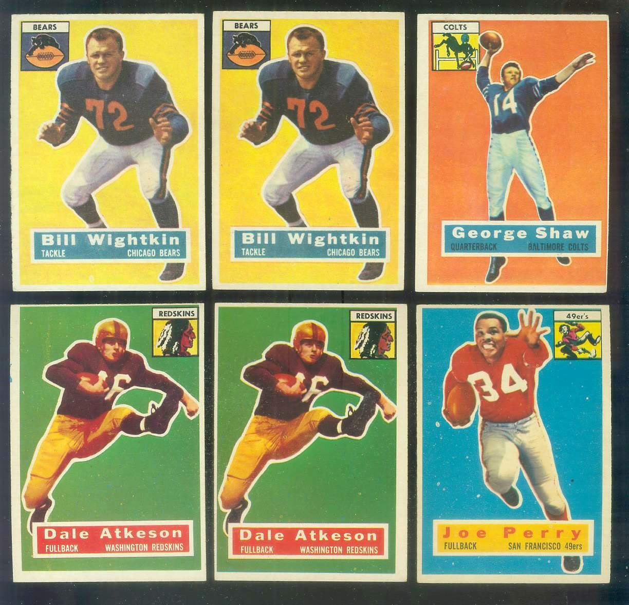 1956 Topps FB #110 Joe Perry (49ers) Football cards value
