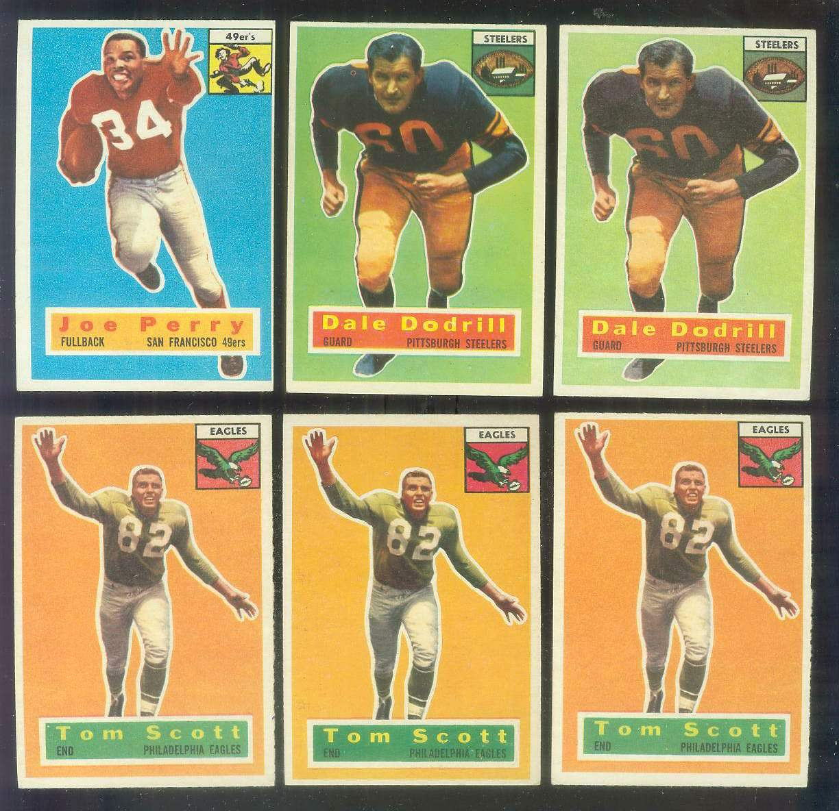 1956 Topps FB #111 Dale Dodrill (Steelers) Football cards value