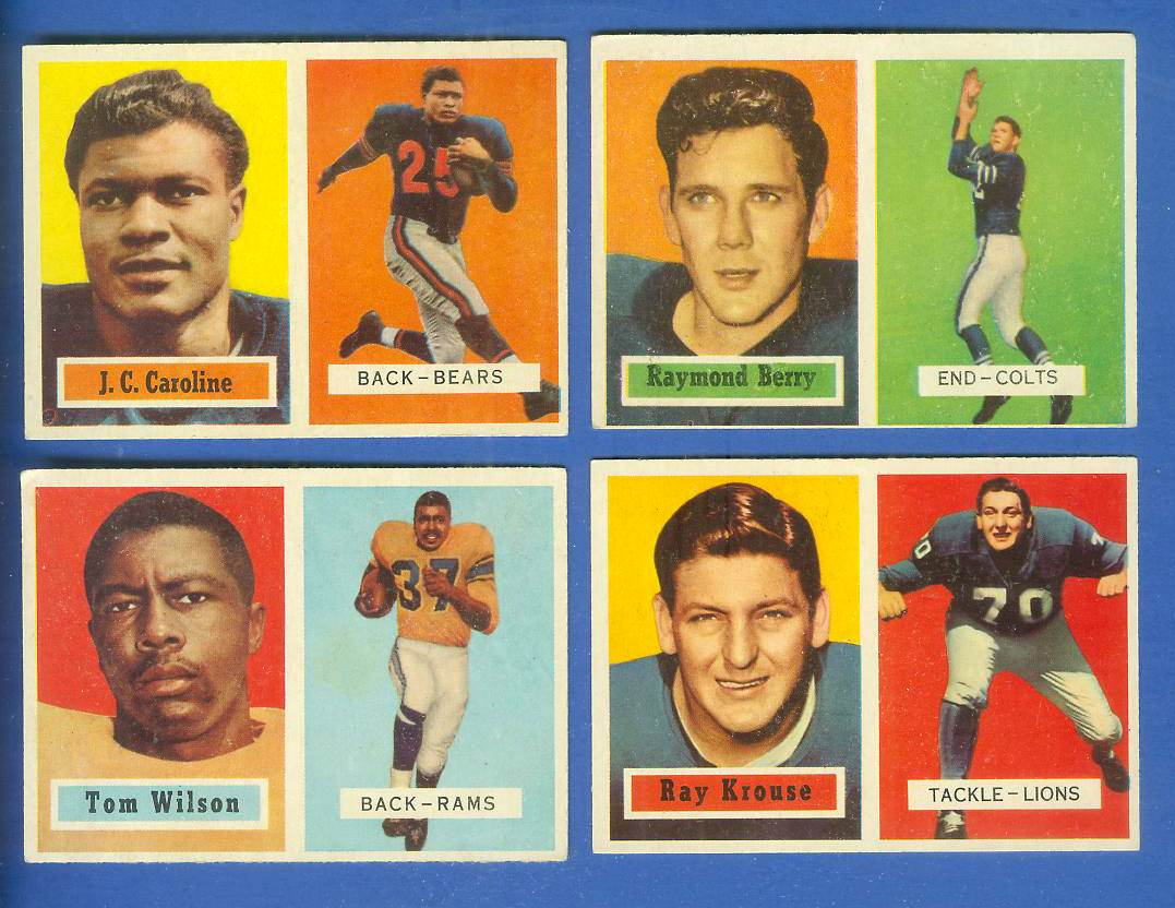 1957 Topps FB #.94 Raymond Berry ROOKIE (Colts) Football cards value