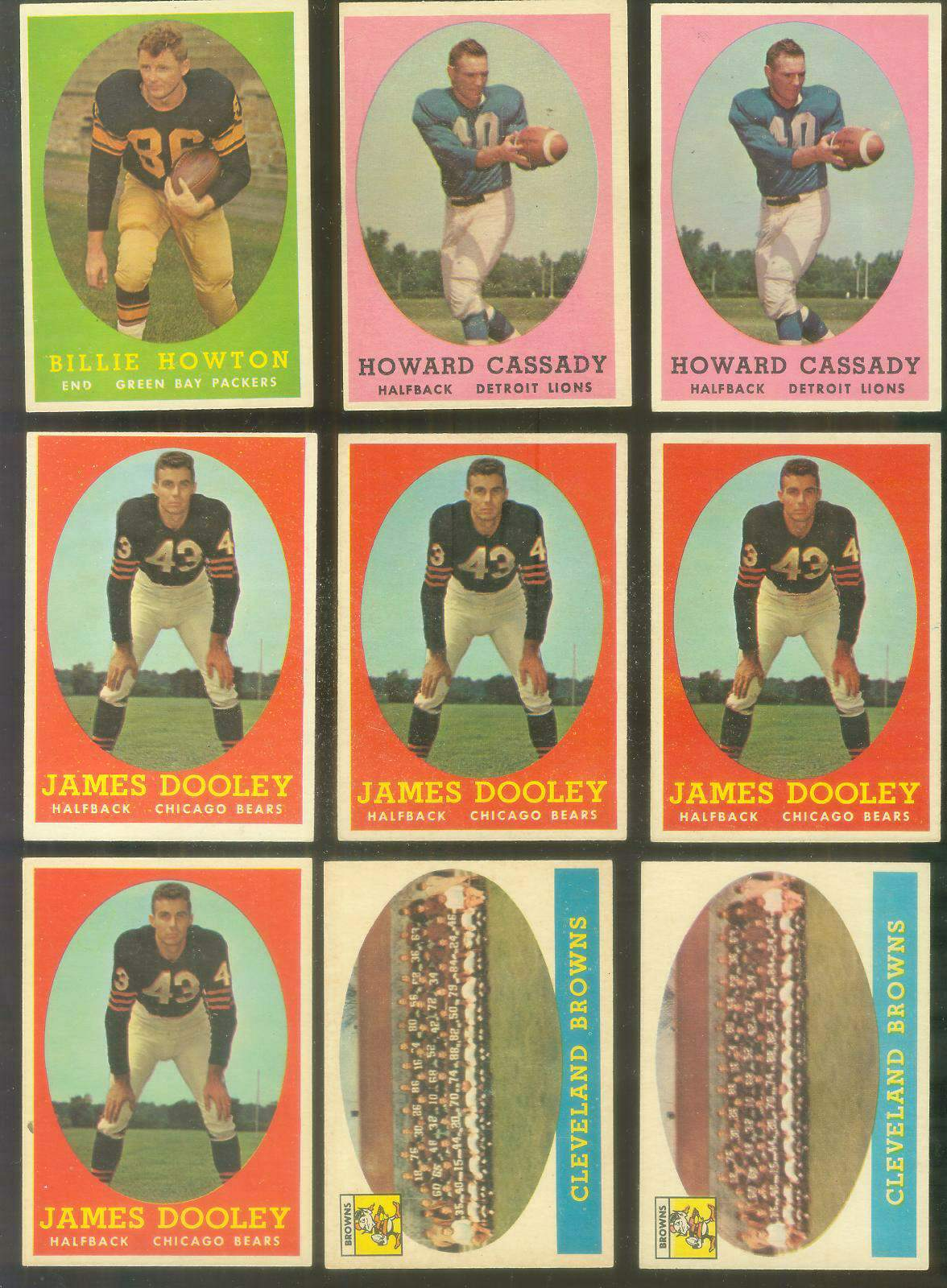1958 Topps FB #..9 Cleveland Browns TEAM card Football cards value