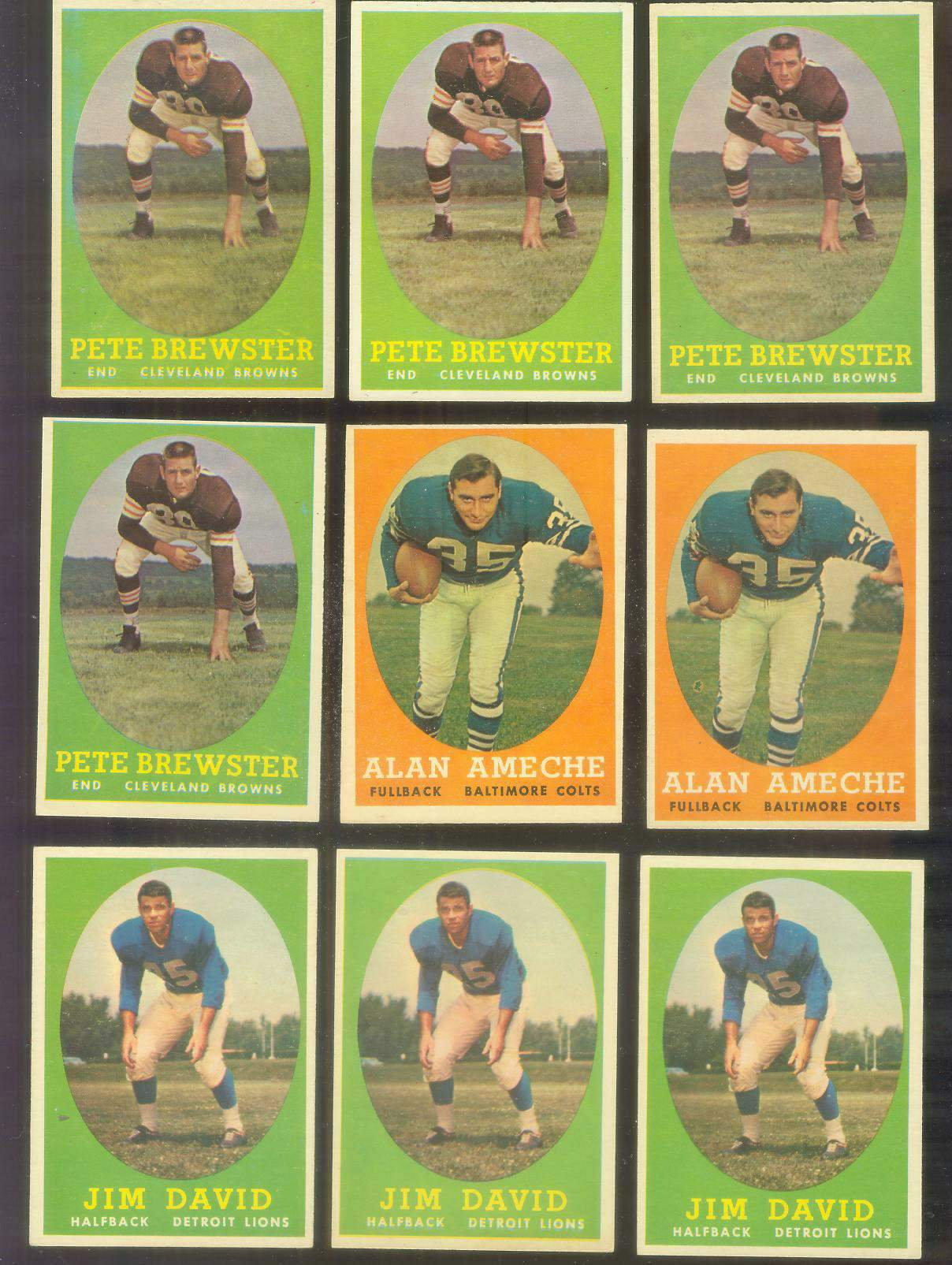 1958 Topps FB #.12 Alan Ameche (Colts) Football cards value