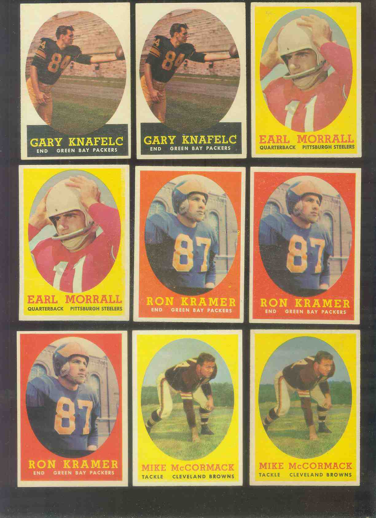 1958 Topps FB #.59 Mike McCormack (Browns Hall-of-Famer) Football cards value