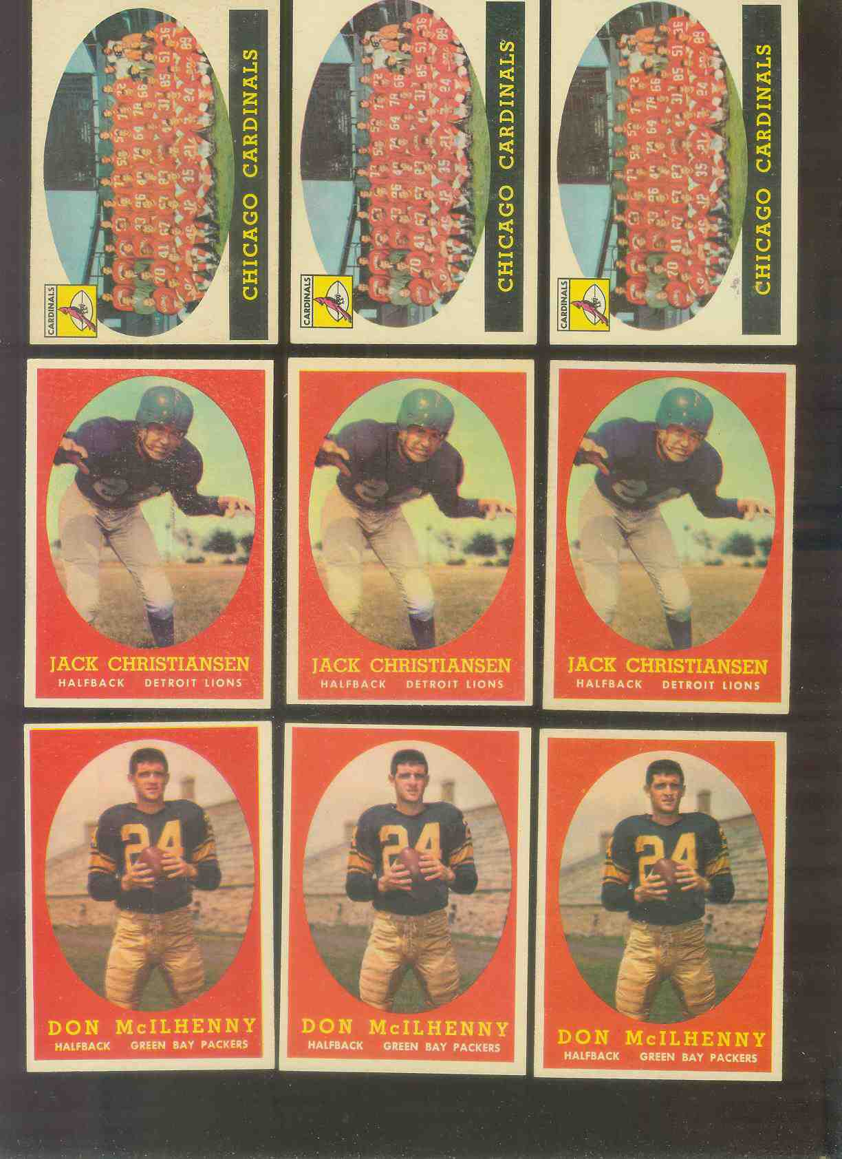 1958 Topps FB #.70 Jack Christiansen (Lions Hall-of-Famer) Football cards value