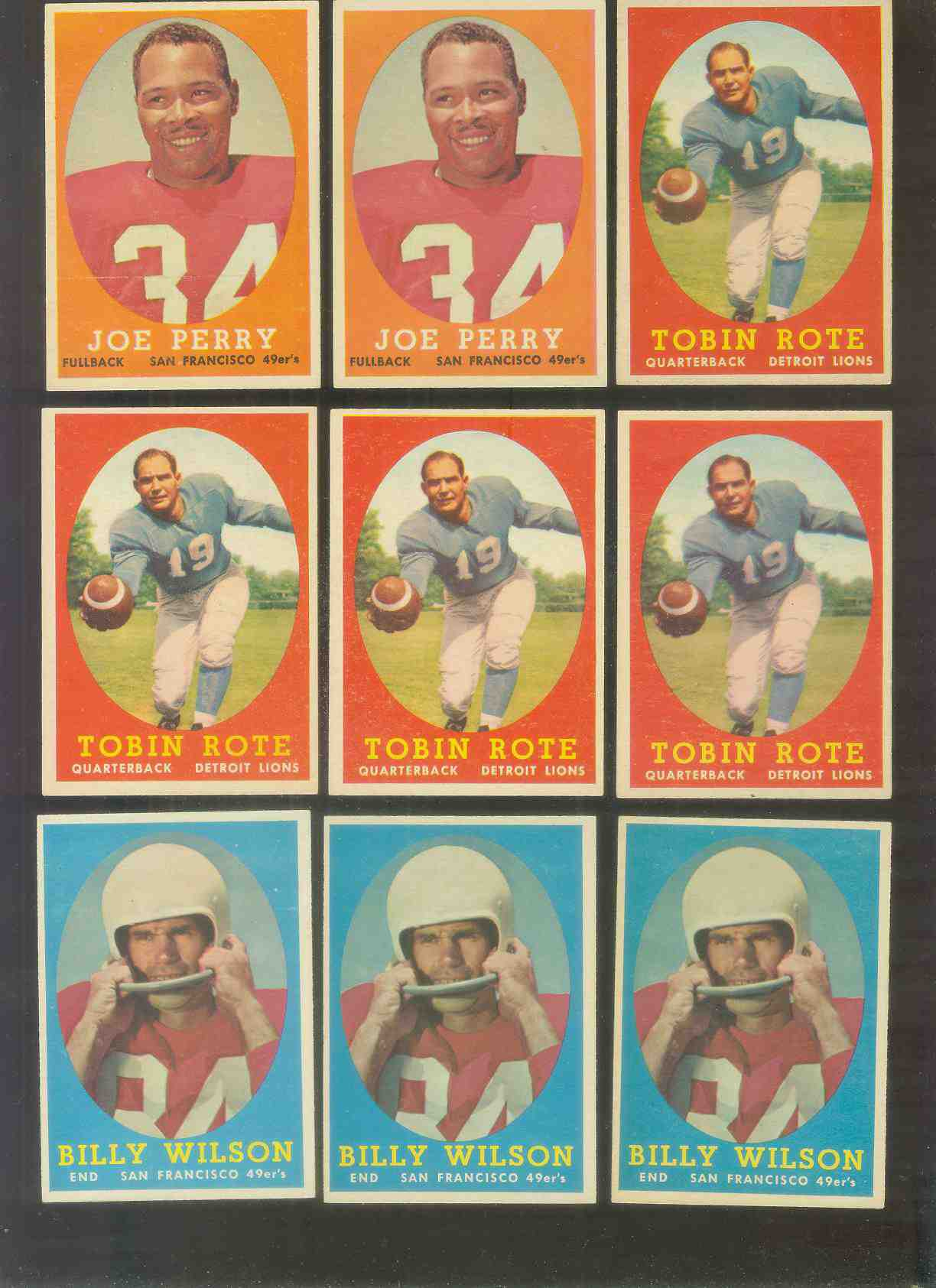 1958 Topps FB #.93 Joe Perry (49ers) Football cards value