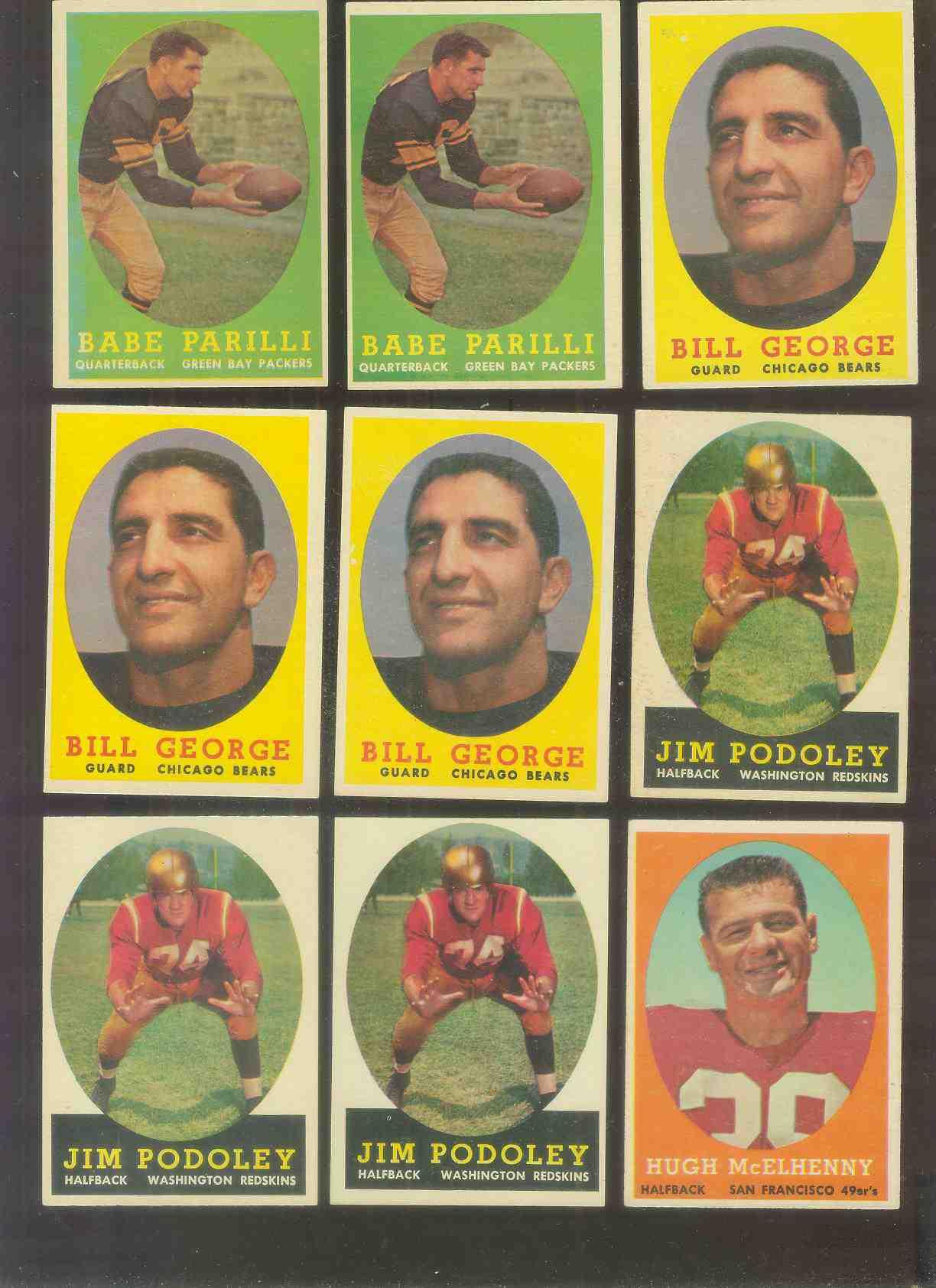 1958 Topps FB #119 Bill George (Bears Hall-of-Famer) Football cards value