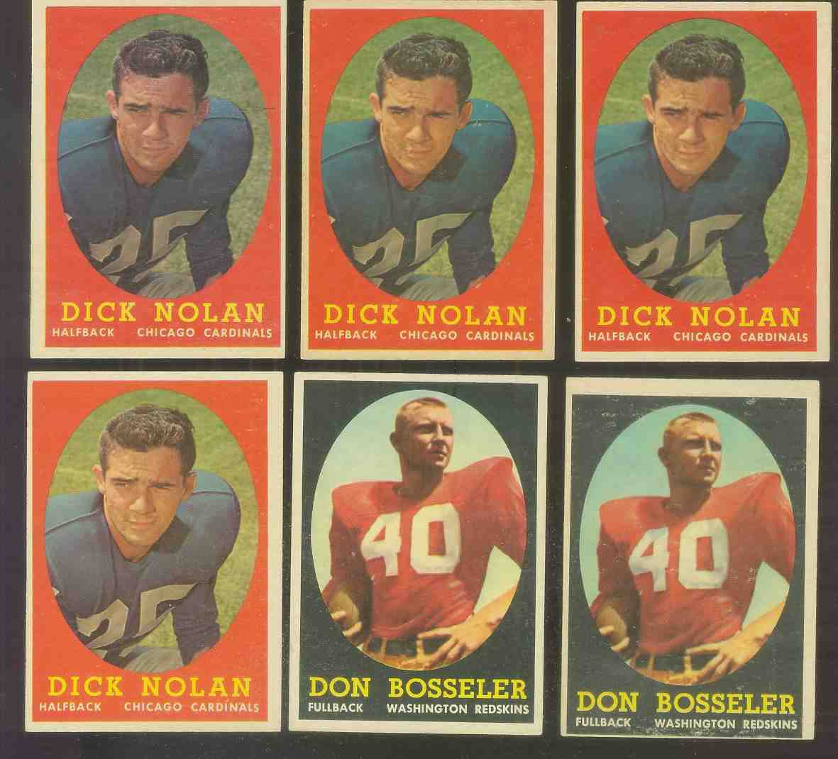 1958 Topps FB #132 Don Bosseler ROOKIE (Redskins) Football cards value