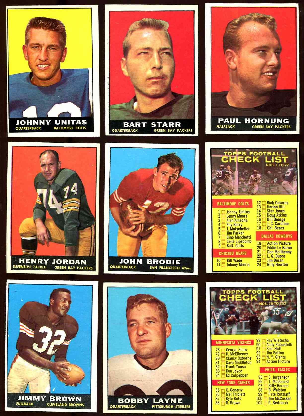 1961 Topps FB # 59 John Brodie ROOKIE [#b] (49ers) Football cards value