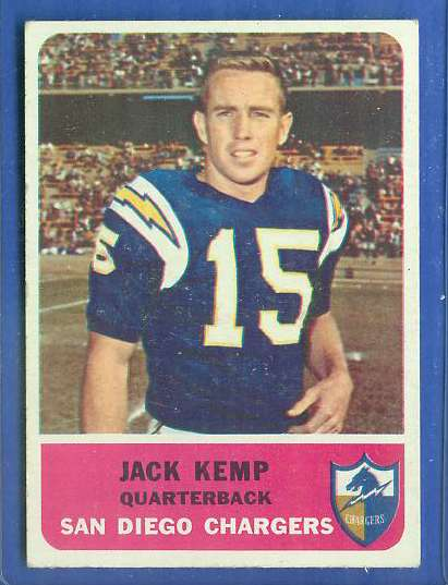 1962 Fleer FB #.79 Jack Kemp (Chargers) Football cards value