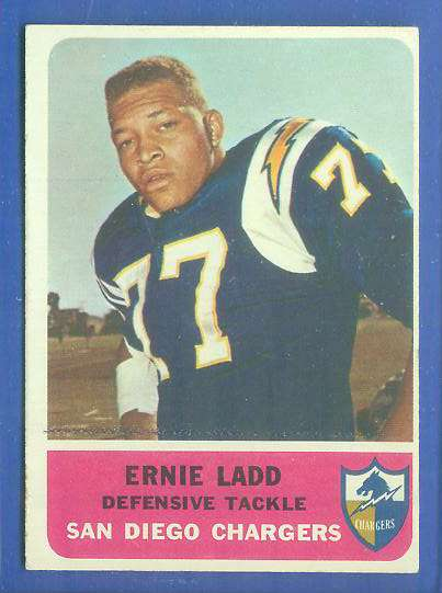 1962 Fleer FB #.86 Ernie Ladd ROOKIE (Chargers) Football cards value
